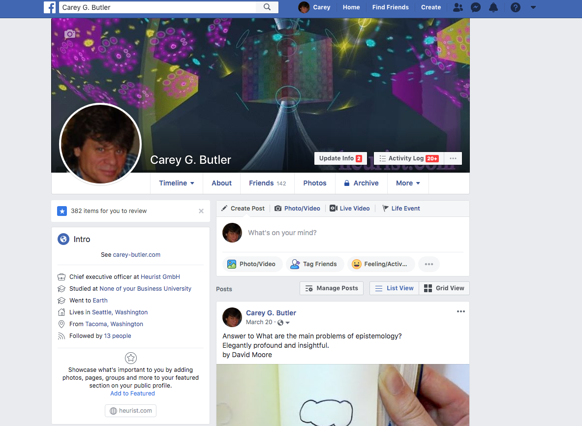 Carey G. Butler on facebook